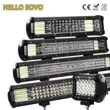 HELLO EOVO светодиодный бар 4/7/12/20 мм/22 мм/28/36 дюймов светодиодный светильник бар вождения Offroad Лодка автомобиль тягач 4x4 внедорожник ATV 12V 24V