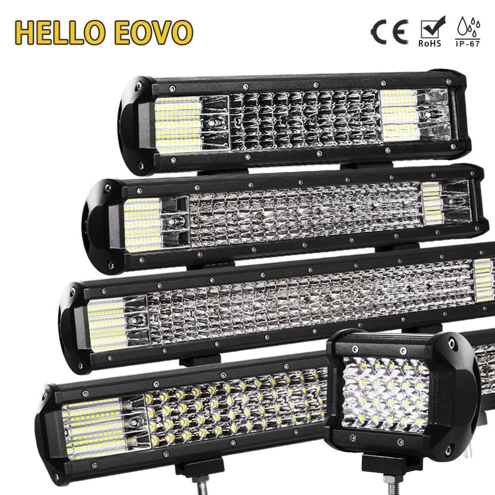 HALLO EOVO LED Bar 4/7/12/20/22/28/36 inch LED Licht bar Fahren Offroad Traktor Lkw 4x4 SUV ATV 12 V 24 V