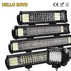 HELLO EOVO LED Bar 4 / 7 / 12 / 20 / 22 / 28 / 36 inch LED Light Bar Driving Offroad Boat Car Tractor Truck 4x4 SUV ATV 12V 24V