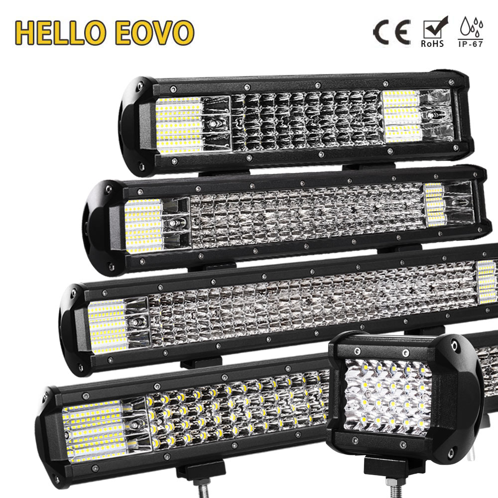 HELLO EOVO <font><b>LED</b></font> <font><b>Bar</b></font> <font><b>4</b></font> / 7 / 12 / 20 / 22 / 28 / 36 inch <font><b>LED</b></font> Light <font><b>Bar</b></font> Driving <font><b>Offroad</b></font> Boat Car Tractor Truck 4x4 SUV ATV 12V 24V image