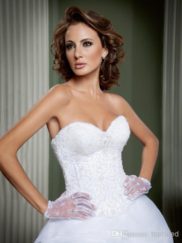 Online Shop 2015 Sexy Lace Wedding Dresses Long Style Strapless Dress Flowy Luxury Professional Custom Made