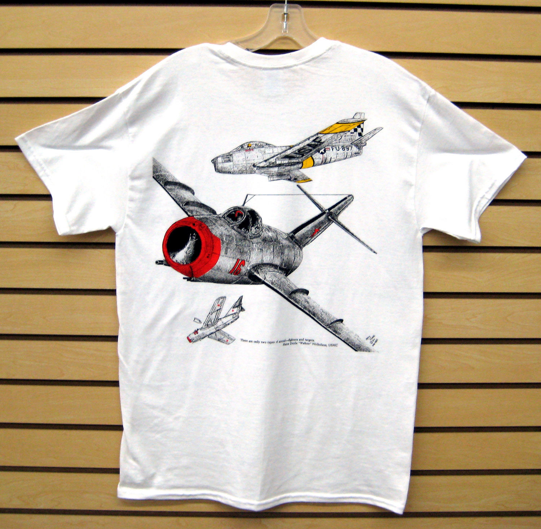 Newest 2019 Men T-Shirt Fashion F-86 Sabre Vs. MiG-15 T-Shirt O Neck Tee Shirt Short Sleeve