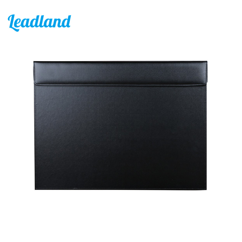 PU Leather Office Desk A3 File Paper Clipboard Drawing & Writing Board Writing Pad Desktop Mat For Office Supplies