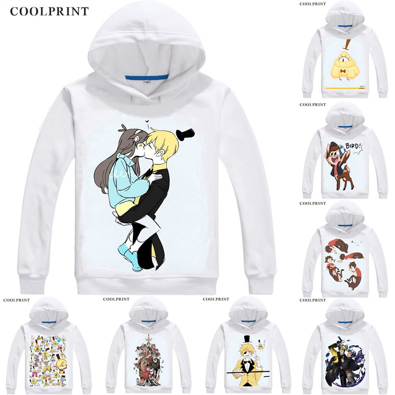 Gravité chutes Hoodies sweat à capuche Anime Mason Dipper pins Mabel pins Bill Cipher oeil de Providence Cosplay Sweatshirts