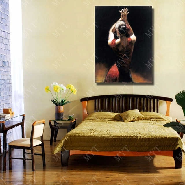European Style Oil Painting Spain Girl Home Decoration Living Room ...