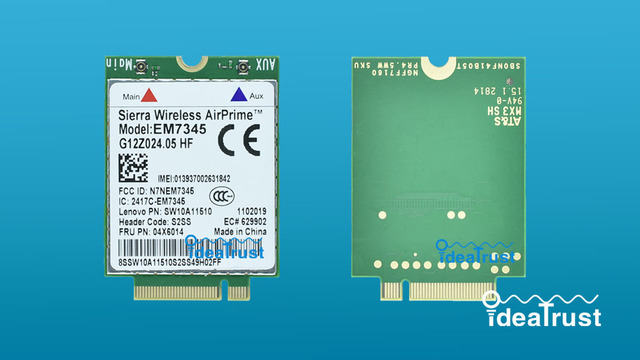 EM7345 FRU 04X6014 LTE NGFF 4G WWAN Network Card for thinkpad L440 L540  T431S W540-in Network Cards from Computer & Office