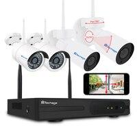 Techage 4CH 1080 P Wifi видеонаблюдения NVR PTZ камера система 2MP беспроводной домашний видеонаблюдения ИК ночной открытый ip камера комплект 2 ТБ HDD