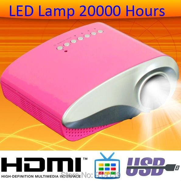 Aliexpress ставка продажа цифровой проектор с tft-hdmi USB VGA с пк RCA высокое качество из светодиодов лампы портативный из светодиодов лучемет Projektor домашнего использования