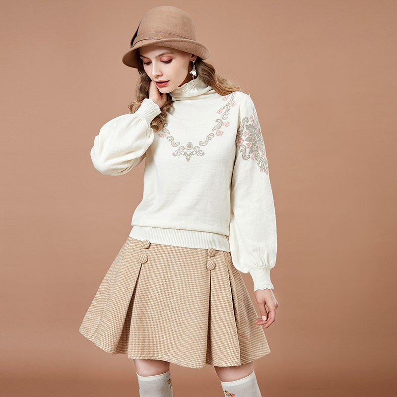 ARTKA Wool Vintage Knit Sweater YB12665Q