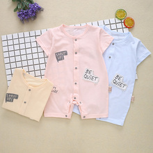 Baby Clothes Cotton Short Sleeve Summer Girls Boys Rompers Toddler Infant 0-12 Months