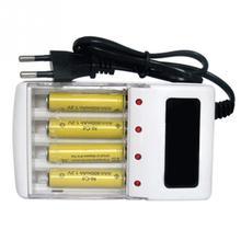 Зарядное устройство с 4 слотами, умное интеллектуальное зарядное устройство для никель-металл-гидридных аккумуляторов AA/AAA, штепсельная вилка европейского стандарта