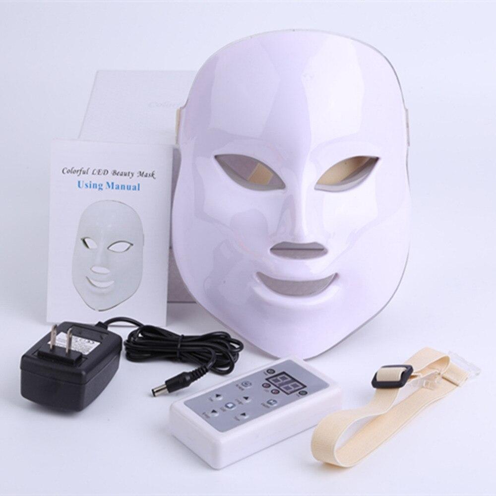 Coreano Fotodinamica LED Maschera Per Il Viso Strumento di Bellezza Uso Domestico Contro acne Ringiovanimento Della Pelle LED Fotodinamica Bellezza Maschera per Il Viso