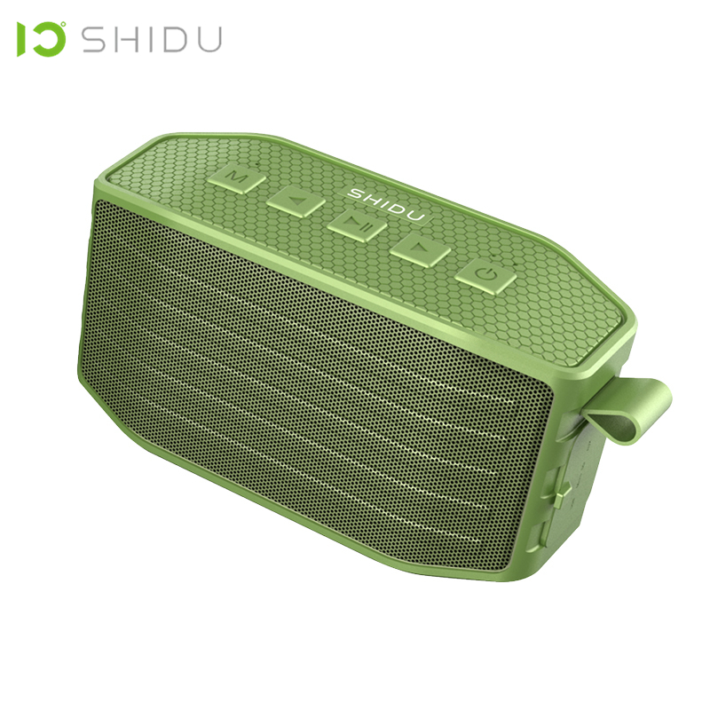 SHIDU Waterproof IPX4 Wireless Portable <font><b>Bluetooth</b></font> Speaker Outdoor Stereo Surround Hands-Free Call Subwoofer Bass Loudspeaker <font><b>P2</b></font> image