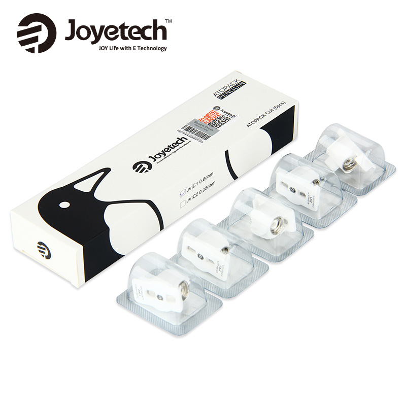 5pcs Original Joyetech ATOPACK JVIC1 MTL Coil 0.6ohm for ATOPACK Penguin Kit Mouth to Lung Vape Evaporizer ceramic cradle