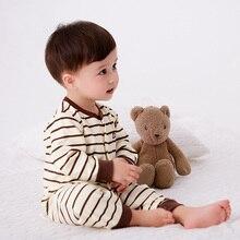 Купить с кэшбэком 2019 New Product Unisex Newborn Baby Cotton Clothing Girls Boys Baby Winter Cartoon Pajamas Kids Infant Suit Baby Rompers