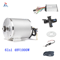 6 In 1 36V 48V 1000W Electric Motor Bicycle Motor Kit Conversion Kit Motor Scooter Electric Bike Wheel Motorcycle
