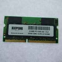 SDRAM 512MB PC100 PC133S laptop RAM 256MB SD 128MB 133MHz 144pin memória Notebook Impressora máquinas Industriais