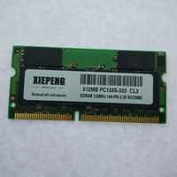 SDRAM 512MB PC133S portátil RAM de 512 SD PC133 133MHz 144pin portátil impresora maquinaria Industrial de memoria