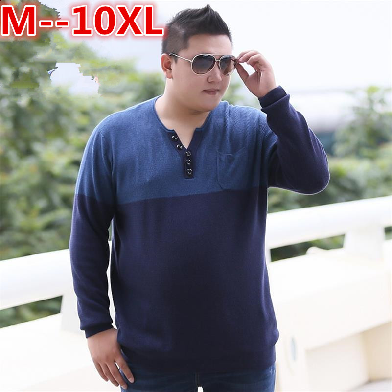 10XL 8XL 6XL 5X Social Cotton Thin Men's Pullover Sweaters Casual Crocheted Striped Knitted Sweater Men Masculino Jersey Clothes