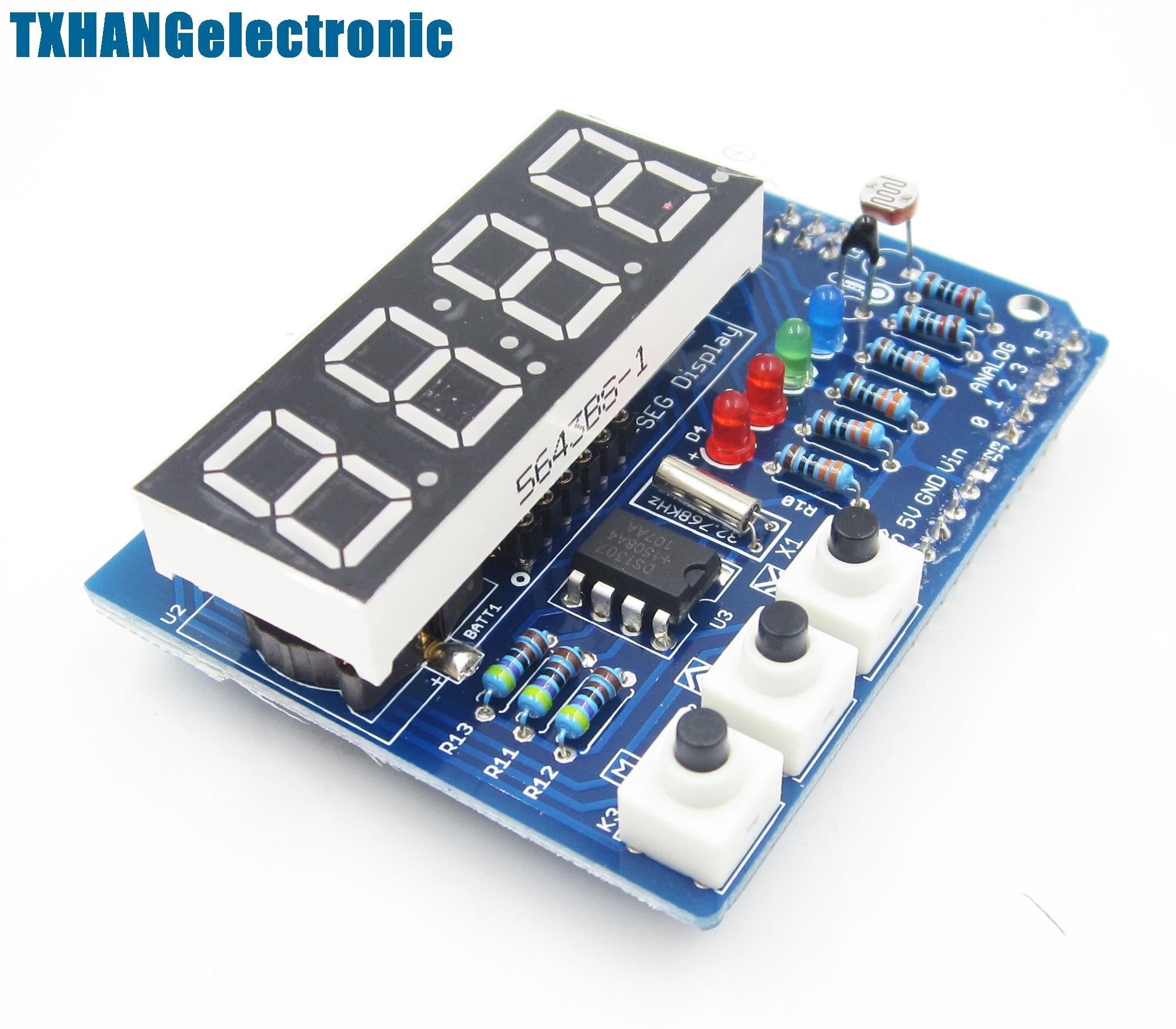 RTC TM1636 DS1307 часы реального времени щит цифровой модуль трубка Термальность Uno