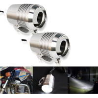 2pcs Chrome LED Motorcycle Headlight Spot Head Light Motorbike Fog Lamp Bulb ATV SUV Car U2 1200LM 30W Motor Bike Light 12V DC