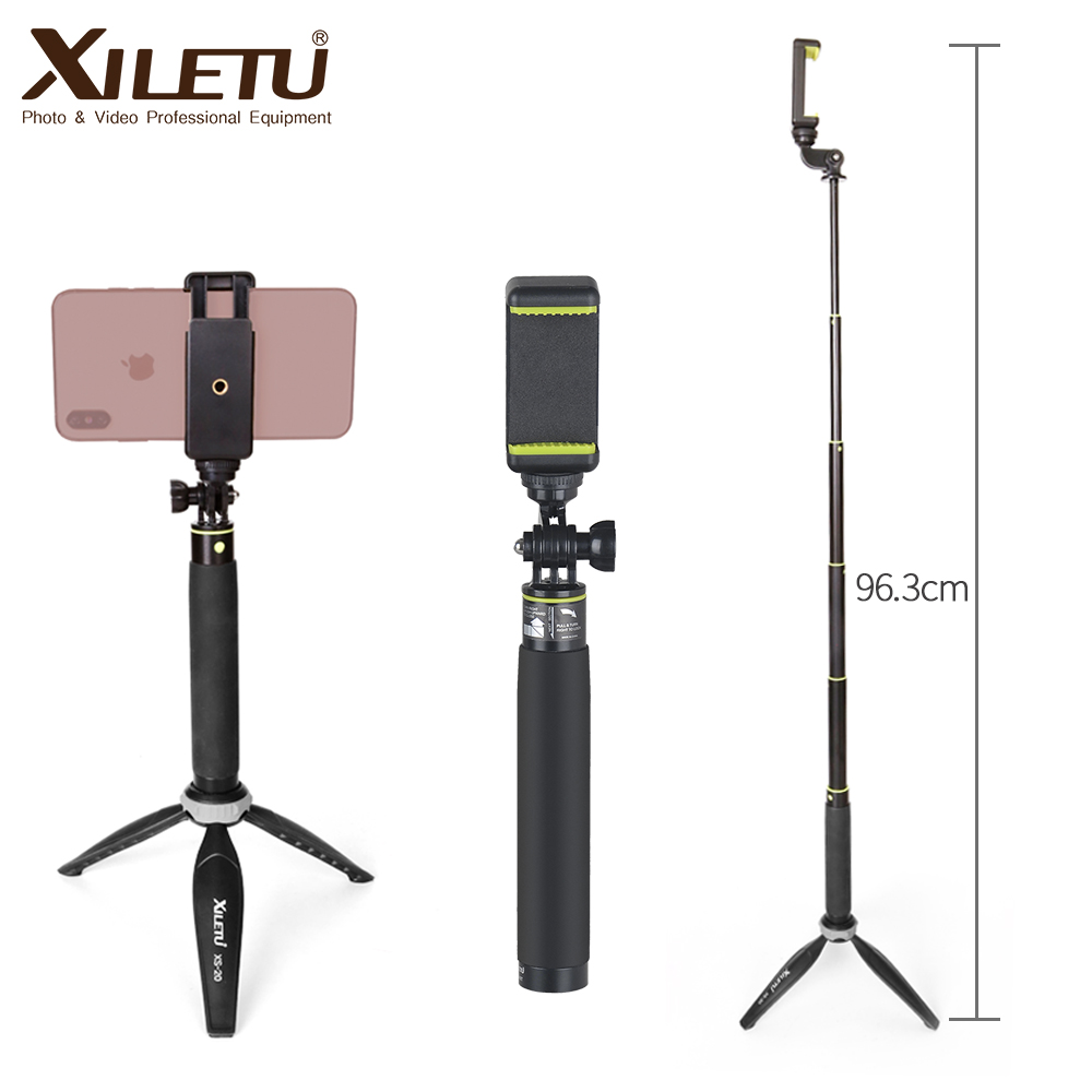 XILETU GE 80T Set 2018 Tripod Monopod Selfie Stick with Bluetooth Remote Control for Android and iphone-in Selfie Sticks from Consumer Electronics