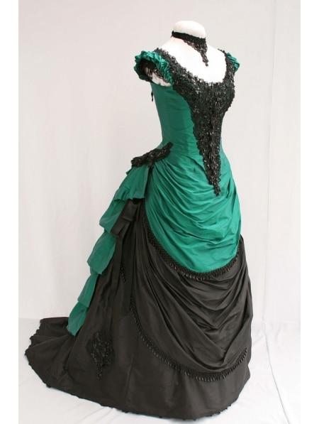 В Викторианском Стиле женское платье с бантом Мария Антуанетта Бал-маскарад готический, викторианской эпохи платье для сцены платье - Цвет: image color