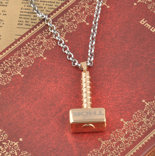 Новый супергерой Тор знак Молот ожерелье Мстители винтажные мужские ожерелья золотого цвета фильм изделия мужские подарки