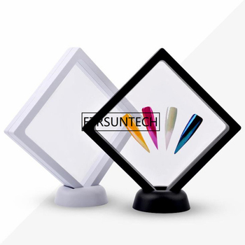 White/Black Nail Tips Display Stand Holder Acrylic With PET Membrane Nails Deigns Showing Board Manicure Nail Art Tools F1723