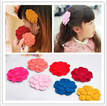 New arrival wholesale big flower posted magic belt fringe holder decorative hair accessory for girls in 8 colors 24pcs/lot