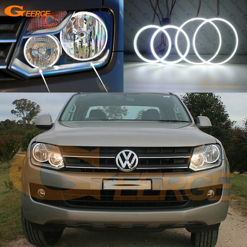 For Volkswagen VW Amarok 2011 2012 2013 2014 headlight Excellent led Angel Eyes Ultra bright smd