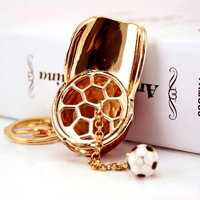 Fashion Hot Football Cap Enamel Metal Crystal Keychain Purse Bag Buckle HandBag Pendant For Car Keyring Holder K237