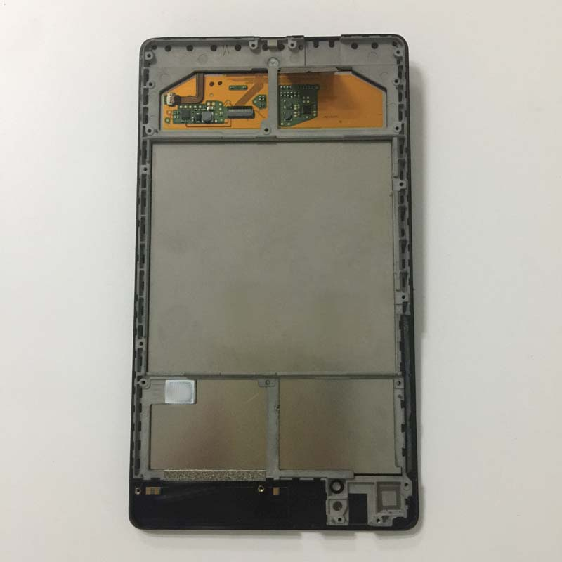 LCD Display Screen Panel + Touch Screen Digitizer Glass Assembly + Frame for ASUS Google Nexus 7 2nd ME570 ME571 Gen 2013 Wifi original 7 inch for nexus 7 2nd gen 2013 lcd display touch screen digitizer assembly for asus google nexus 7 2nd free shipping