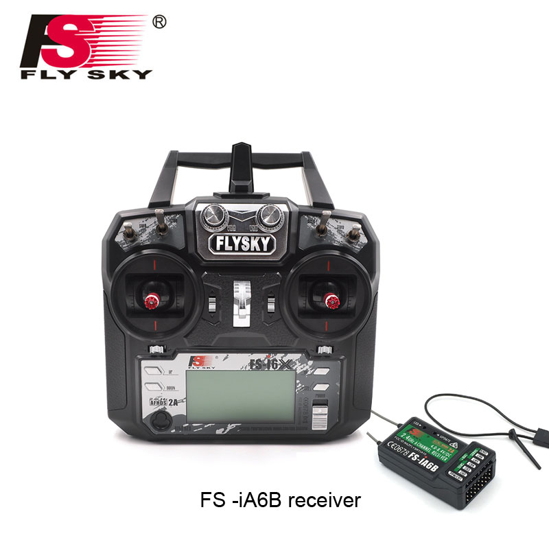 Flysky FS-i6X FS I6X 2.4G RC Transmitter Controller 10/6CH iA6B A8S X6B Receiver i6 upgrade For RC Helicopter Multi-rotor drone image