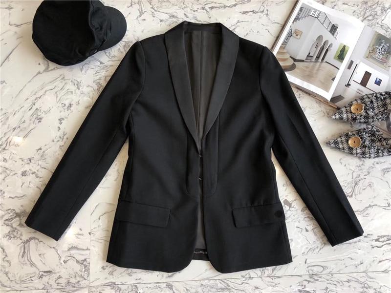 Mode Lady Longues Femmes Collar Nouvelles Turn 2018 Mince Élégant Avec Veste Ol down Pour Noir Manteau Manches Sng7H
