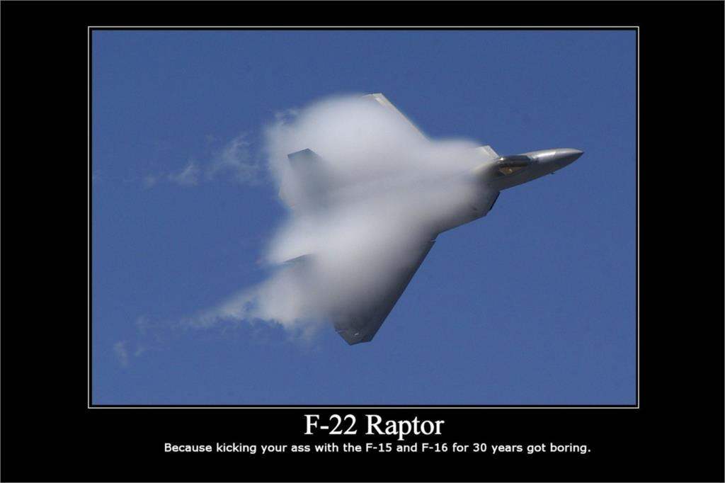 DIY frame F-22 Raptor MOTIVATIONAL Poster Home Decorative painting Silk Wall Poster -High quality Picture For Gift