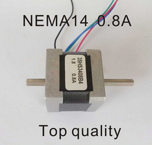 NEMA14 Stepper Motor Dual Shaft 18N.cm 25oz-in Motor Length 34mm CE Rohs CNC Stepping Motor 8 mm double shaft nem 23 stepping motor 180 n cm 250 oz in body length 76 mm ce rohs cpu double shaft nem 23 stepper motor