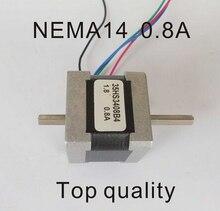 NEMA14 Stepper Motor Dual Shaft 18N.cm 25oz-in Motor Length 34mm CE Rohs CNC Stepping Motor цена в Москве и Питере
