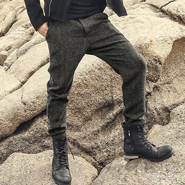 ba9dbd3321d Men Solid Color High Quality Trousers Men Slim Fitness Fashion Long Pants  Men New British Style