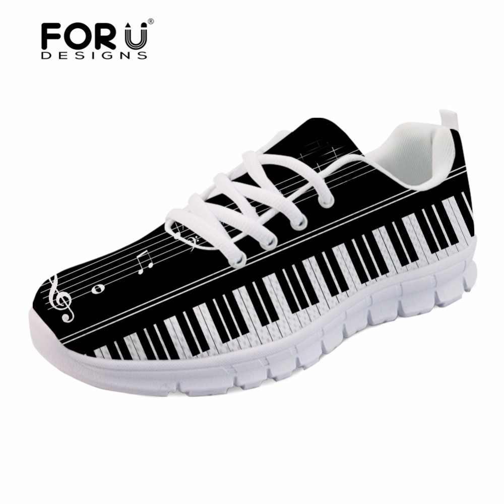 49b36727b31d FORUDESIGNS Музыкальные ноты с фортепианной клавиатурой, повседневные мужские  кроссовки на плоской подошве, модные