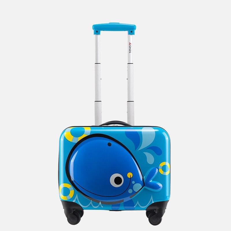 Valise pour enfants ABS + PC, mini bagage Cartoon, boîte d'embarquement de 18