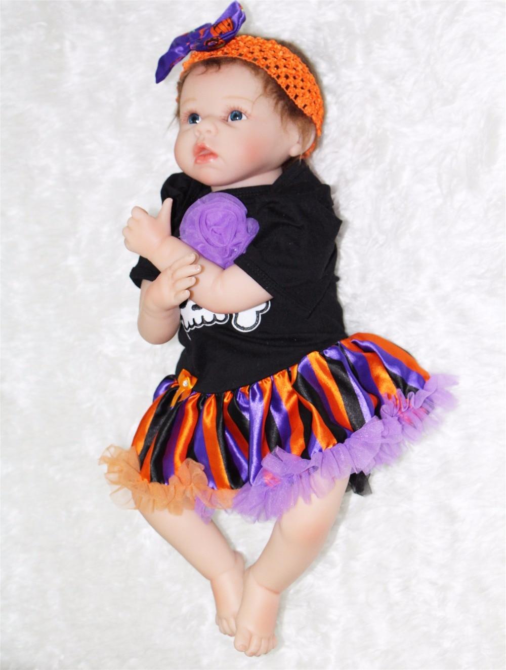 55cm bebe doll reborn Silicone Reborn babies soft cotton body Handmade Realistic Baby Dolls girls xmas gift bonecas