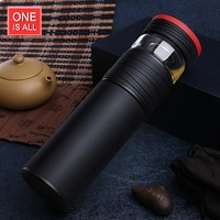 ONE Tea Separation Thermoses SUS 304 Vacuum Flasks Men Cup 550ml Business Style Tea Pot Chinese Tea Bottle Thermal Bottle