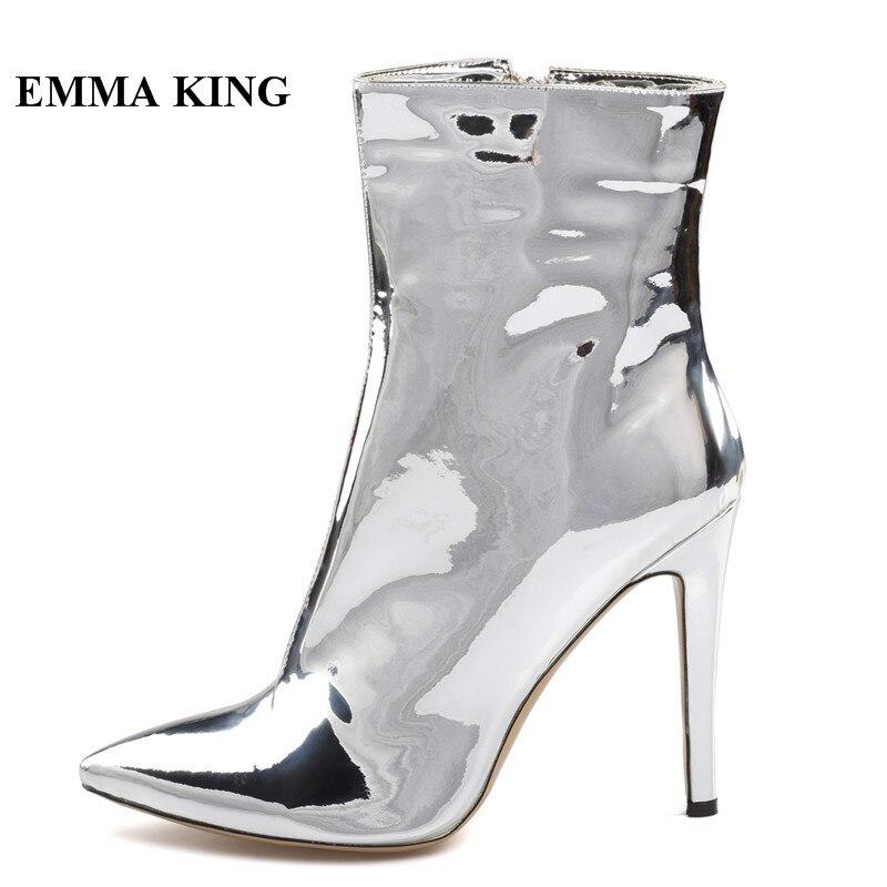 De Verni Pour Talons Femmes Ruban La Roi Stiletto Pointu Mode Stade Plus Chaussures Emma 43 Taille Cuir Bout Bottes Cheville vXtCx