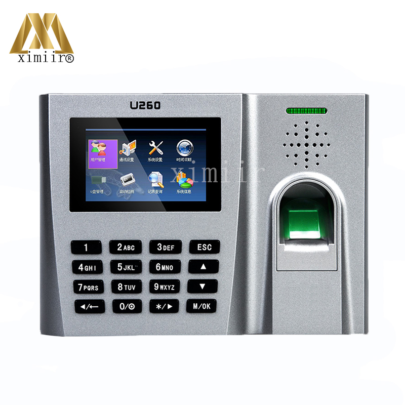 Linux System Webserver Color Screen U260 Biometric Fingerprint Time Clock Time Attendance Terminal Employee Recording Attendance