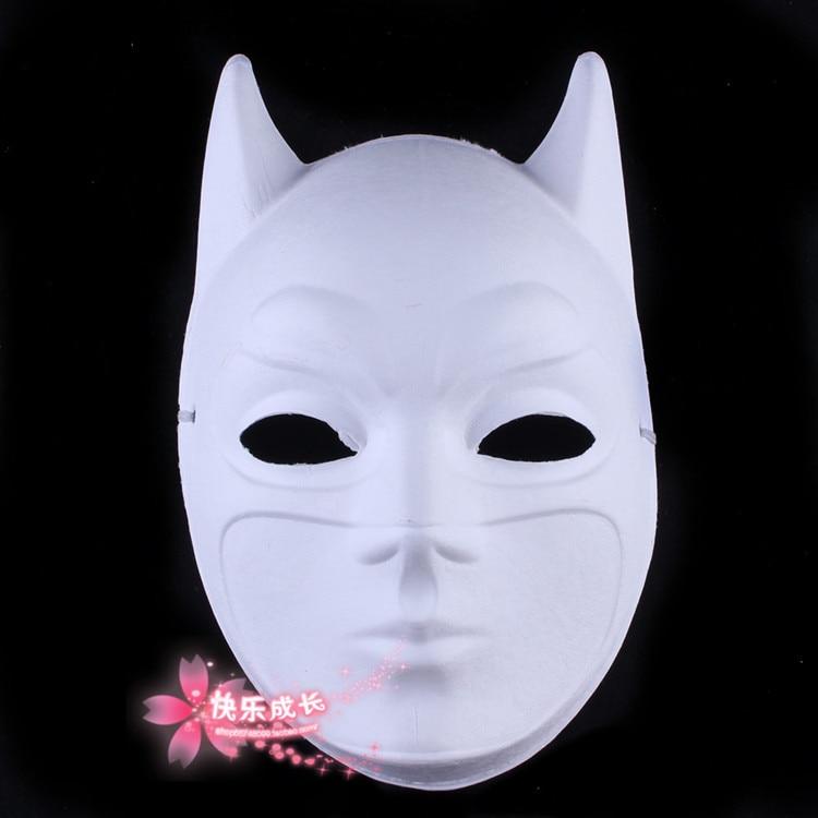 Кричащие призраки DIY пустые Вечерние Маски белая бумажная целлюлоза окружающей среды Изобразительное искусство живопись программы Маскарад полное лицо маски 10 шт - Цвет: Batman