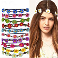 New High Quality Women's Bohemian Floral Headbands Flower Party Wedding Hair Band Ornaments Beach Wrape