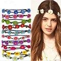 Novo de Alta Qualidade das Mulheres Bohemian Floral Headbands Faixa de Cabelo Enfeites de Casamento Festa Flor Praia Wrape