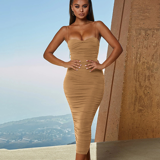 платье Women Bandage Dresses 2019 Summer Strap Long Dress Women Party Dress