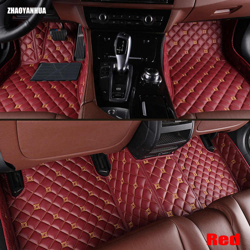 ZHAOYANHUA voet case auto vloermatten voor BMW 3 serie E90 E91 E92 E93 318d 320d 320i 325i 328i 326D 330d 336D 330i 335i tapijten lijn